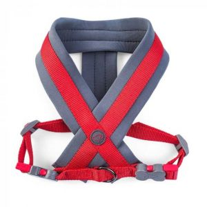 Uber-Activ Padded Dog Harness - Red