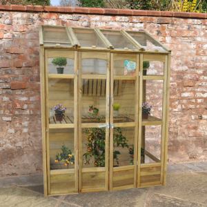 Victorian Tall Wall Greenhouse with Auto Vent